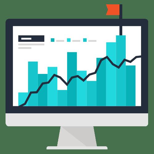 Eine Online Marketing Grafik mit Performance-Steigerung